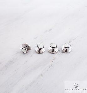 Пуговицы бел в серебре